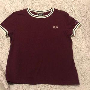 maroon champion t-shirt